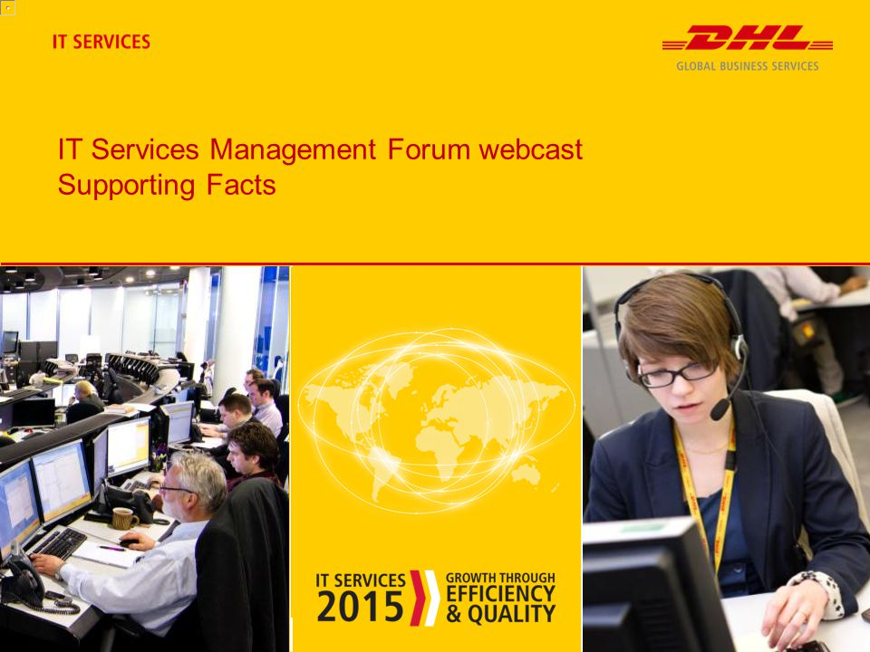 IT Services Management Forum webcast Supporting Facts