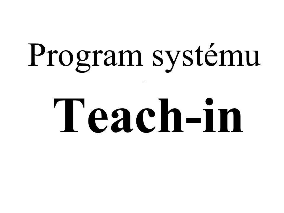 Program systému. Teach-in